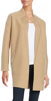 Lord & Taylor Merino Wool Open-Front Cardigan $240 thestylecure.com