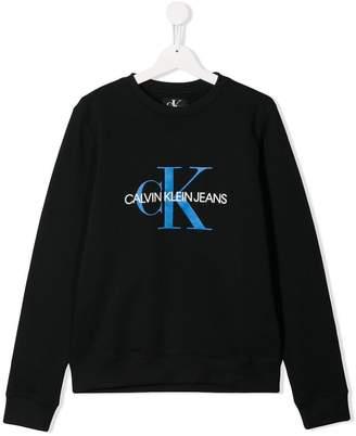 Calvin Klein Kids branded jersey sweater