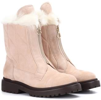Moncler Alexandra fur-lined suede ankle boots