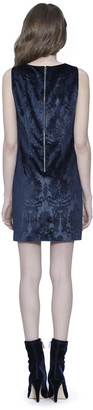 Alice + Olivia CLYDE VELVET MINI DRESS