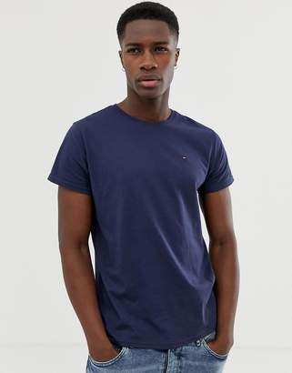 Tommy Jeans Crew Neck T-Shirt in Navy