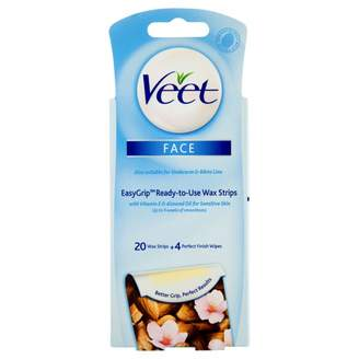Veet Face Wax Strips with EasyGrip For Sensitive Skin 20 pack