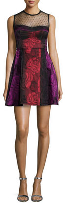 Nanette Lepore Sleeveless Illusion Fit & Flare Dress $448 thestylecure.com