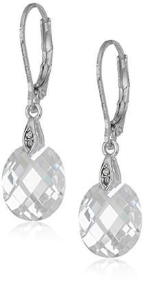 Anne Klein Faceted Drop Earrings