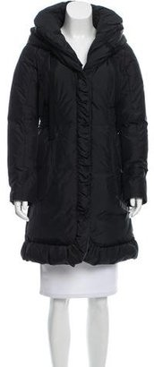 Tahari Hooded Puffer Jacket $195 thestylecure.com