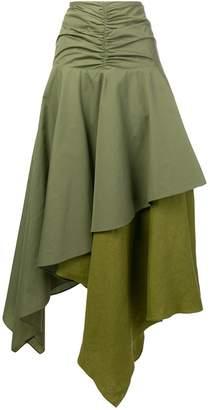 Loewe long asymmetric skirt