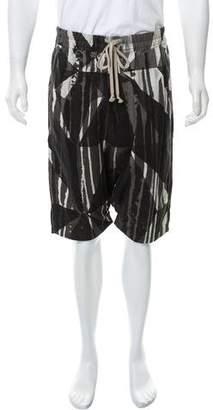 Rick Owens Printed Harem Shorts w/ Tags