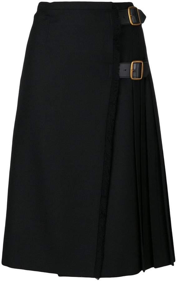Burberry pleated buckled skirt