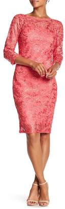 Marina Crochet Lace Mesh Dress