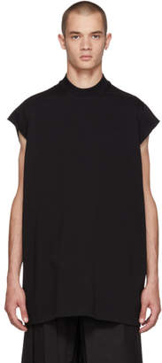 Rick Owens Black Mock Neck T-Shirt