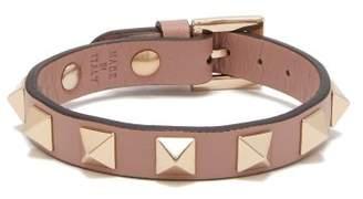 Valentino - Rockstud Leather Bracelet - Womens - Pink