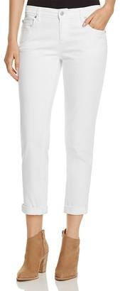 Eileen Fisher Boyfriend Jeans in White $178 thestylecure.com
