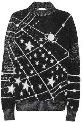 Saint Laurent Constellation jacquard sqeater