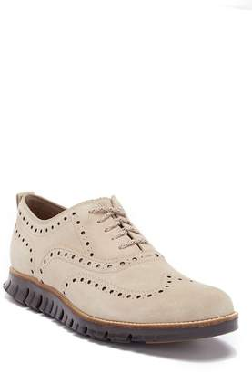 Cole Haan Zerogrand Suede Wingtip Oxford
