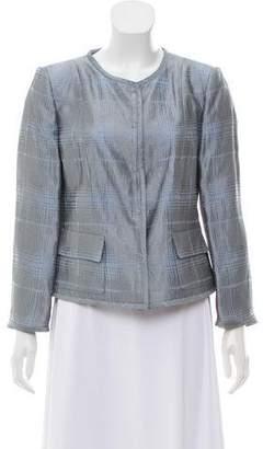Armani Collezioni Metallic Button-Up Jacket