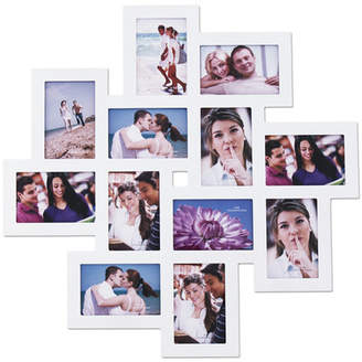 Zipcode Design 12 Opening Wood Photo Collage Wall Hanging Picture Frame