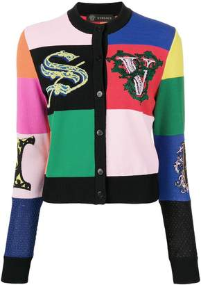 Versace Alphabet motif cardigan