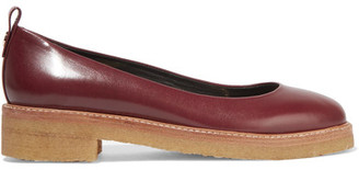 Lanvin - Leather Ballet Flats - Burgundy $550 thestylecure.com