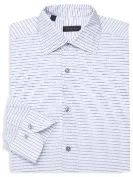 Saks Fifth Avenue COLLECTION Nautical Stripe Dress Shirt