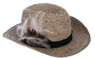 Zadig & Voltaire Feather-Accented Straw Hat