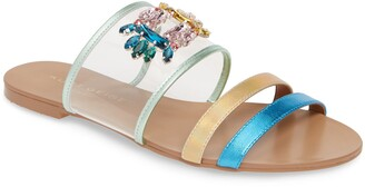 Kurt Geiger London Pia Vinyl Slide Sandal
