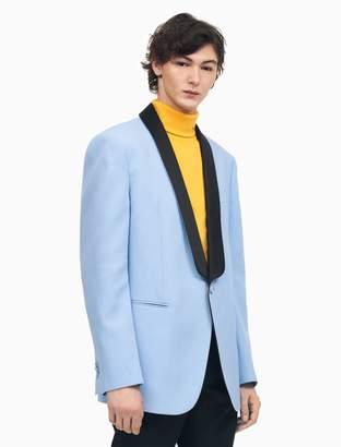Calvin Klein shawl collar boxy tuxedo jacket in wool gabardine