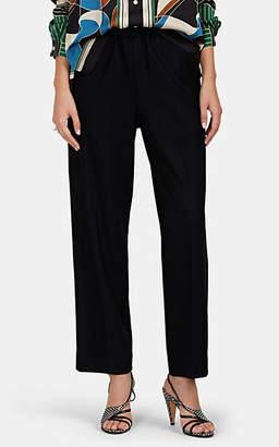 08sircus Women's Wool Melton Drawstring Trousers - Black