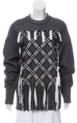 Kenzo Fringe-Accented Pullover Sweatshirt w/ Tags