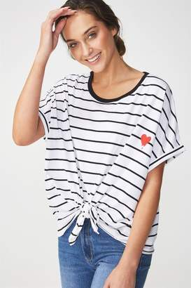 Cotton On Knot Front Graphic Tee