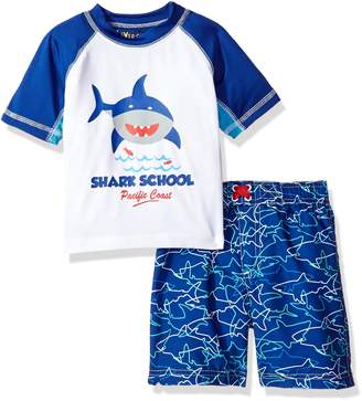 iXtreme Toddler Boys' Shark Rash Guard Set