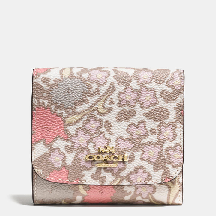 Coach   COACH Coach Small Wallet In Yankee Floral Print Coated Canvas