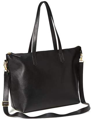 Classic Faux-Leather Zipper Tote for Women $39.94 thestylecure.com