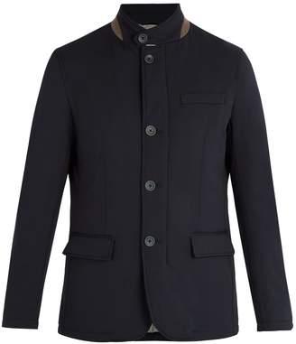 Herno Water-repellent wool-blend jacket