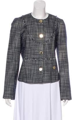Tory Burch Fringe-Trimmed Tweed Jacket