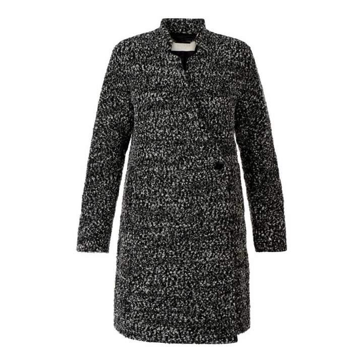 Charcoal Wool Blend Elody Coat