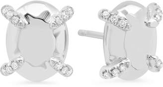 Conges Golden Collection Oval Stud Earrings