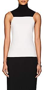 Narciso Rodriguez Women's Colorblocked Compact Knit Wool Top - Black, White