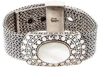 John Hardy Mother Of Pearl Buckle Bracelet