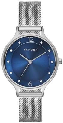 Skagen Ladies' SKW2307 Anita Blue Dial Mesh Strap Watch