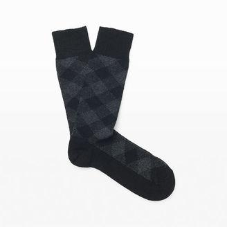 Sorley Buffalo Plaid Sock $34 thestylecure.com