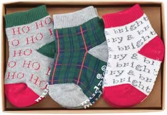 Mud Pie 3-Pack Merry & Bright Socks