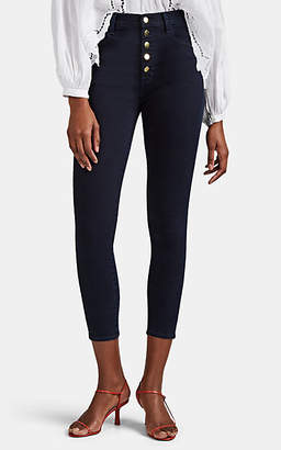 J Brand Women's Lillie High-Rise Crop Skinny Jeans - Black