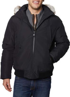 HFX Mens Men's Zip-Up Bomber Jacket w\/ Hood