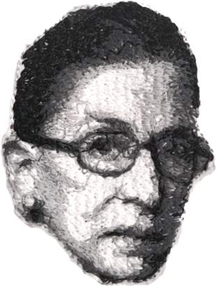 How Could You? Ruth Bader Ginsburg Embroidered Portrait Pin