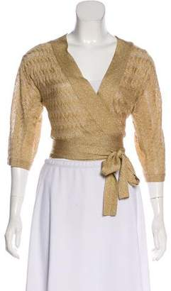 Diane von Furstenberg Long Sleeve Cropped Cardigan