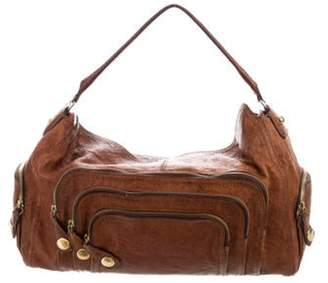 Givenchy Textured Leather Hobo Brown Textured Leather Hobo