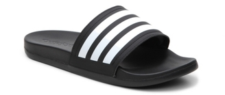 adidas Adilette Cloudfoam Ultra Stripes Slide Sandal $35 thestylecure.com
