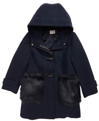 J.Crew crewcuts by Toggle Coat with Faux Fur Trim