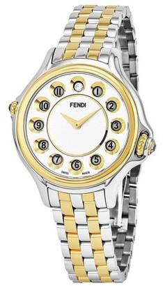Fendi Women's Crazy Carats 33mm Two Tone Steel Bracelet Steel Case Swiss Quartz Analog Watch F107124000T06