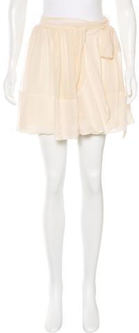 Chloé Chloé Silk Mini Skirt